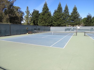 University Terrace Tennis Courts, Left, Santa Cruz, California