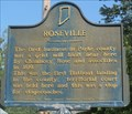 Image for Roseville Historical Marker - Parke County, Indiana
