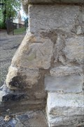 Image for Cut-mark, Tower of St. Peter's Church, High Street, Raunds, Northamptonshire