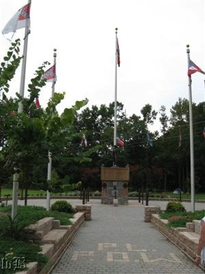 The PLPOW Memorial in Confederate Memorial Park at Point Lookout