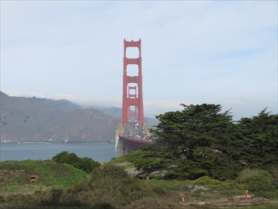 View of GG Bridge from the Presidio, San Francisco