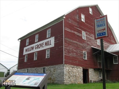 The Willow Grove Mill on the CWDT was put to the torch during `the Burning` in early October 1864.