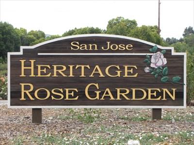 Heritage Rose Garden Sign, San Jose, CA