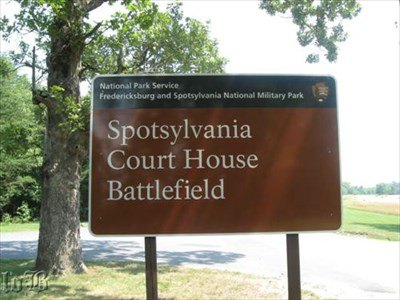 Sign at the entrance to the Spotsylvania Court House Battlefield
