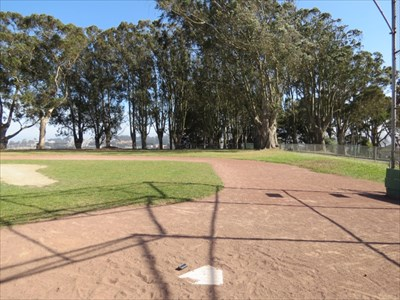 View from Home PLate towards Right Field, San Francisco, California