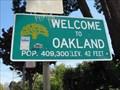 Image for Oakland, CA - Pop: 409,300