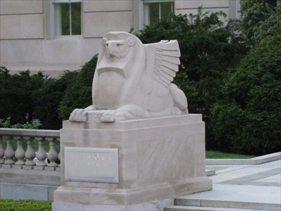Left Sphinx from the Side, Washington, DC