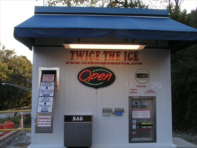 Just your ordinary ICE VENDING MACHINE.