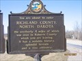 Image for You are about to enter Richland County ND