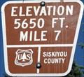 Image for Everitt Memorial Highway, California - Mile 7 - Elevation 5650