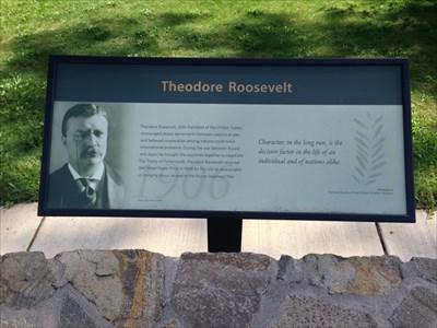 Theodore Roosevelt in the Nobel Peace Park, Eugene, Oregon