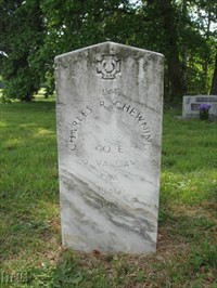 Charles R. Chewning -- one of the Confederate soldiers buried in the church cemetery.