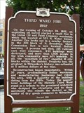 Image for Third Ward Fire Historical Marker