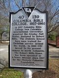 Image for Columbia Bible College, 1937-1960 - 40 139 - Columbia, South Carolina