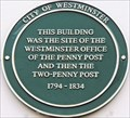 Image for Penny & Two- Penny Post - Gerrard Street, London, UK