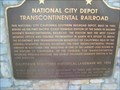Image for NATIONAL CITY DEPOT TRANSCONTINENTAL RAILROAD
