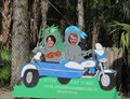 Image for Manatees in a Motorcycle Cutout - Homosassa, FL
