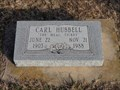Image for Carl Hubbell - New Hope Cemetery - Meeker, OK