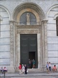 Image for The Entrance Gate of the Bapistry Cathedral façade - Pisa, Italy