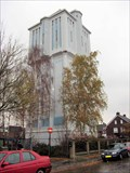 Image for Huge water tower in Almelo, Netherlands.