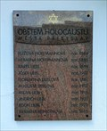 Image for The Holocaust Memorial - Pribyslav, Czech Republic