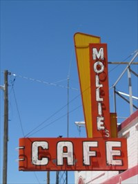 Mollie's Cafe Sign, Snowville, UT