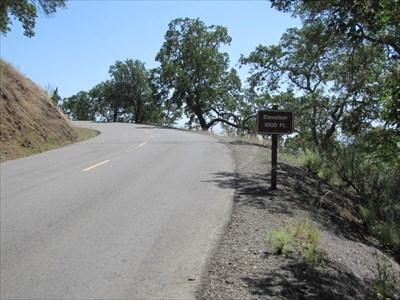 Elevation 1,000 ft Sign Setting, Mount Diablo State Park