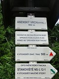 Image for Elevation Sign - Anensky vrch, Czech Republic. 912 m