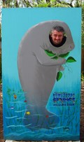 Image for Manatee Cutout at Homosassa Springs Wildlife State Park -- Homosassa Springs, FL