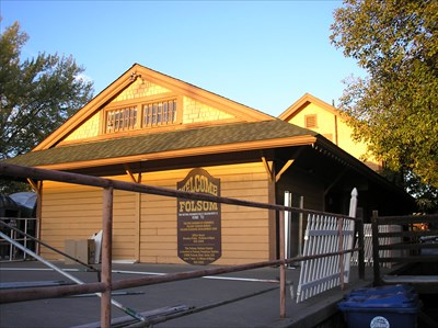 West end of the station.