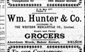 Image for Wm. Hunter and Co. - Nelson, BC - 1900