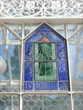 Image for Vertical (Stained Glass) Sundial - Horniman Gardens, London Road, Forest Hill, London, UK