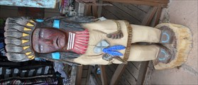 Image for Painted Cigar Store Indian ~ Valle, Arizona