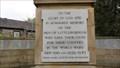 Image for Ecclesiaticus 44:1-15 – Ccombined World War I and II Memorial – Littleborough, UK