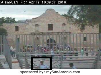 One of many visits I've made to the Alamo since 1987. On this visit I was taking part in the annual Fiesta Pilgrimage to the Alamo.
