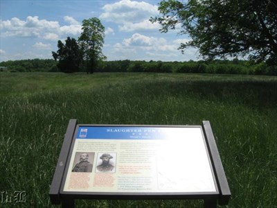 General Meade galloped through these fields looking for an op to attack the Confederate troops.