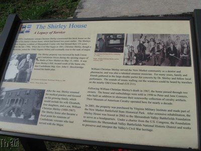 The house built by Christian Shirley is now the Shenandoah Valley Battlefields Foundation headquarters.