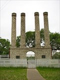 Image for Columns of a Building of Old Baylor University - Independence, TX