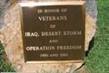 Image for Iraq Monument in Veterans Memorial - Piedmont, MO
