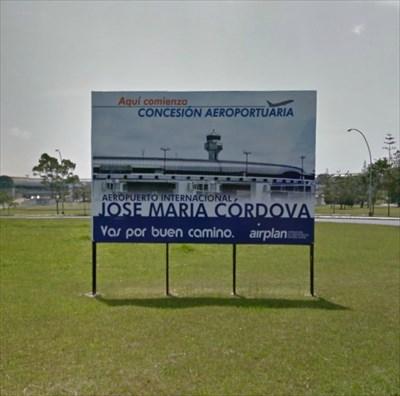 José María Córdova International Airport Sign, Rionegro, Colombia