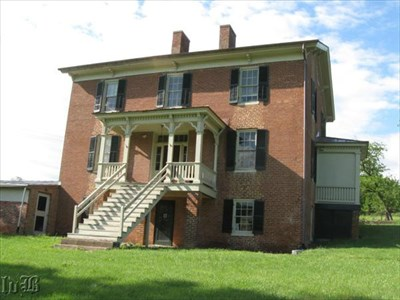 This old brick house belonged to Confederate veteran Christian Shirley.