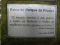 Image for Ribeira Park stage, Shakespeare quote - V. N. Famalicão
