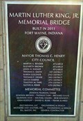 Image for Dr. Martin Luther King Jr. Memorial Bridge - 2011 -  Ft. Wayne, IN
