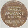 Image for Wolfgang Amadeus Mozart - Ebury Street, London, UK