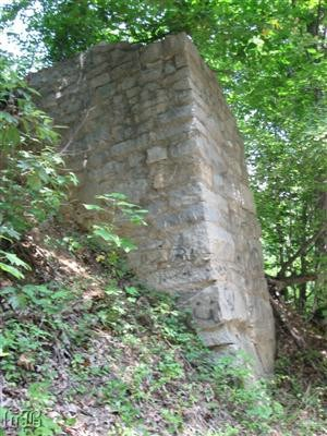 Only the south abutment remains of the Potomac Creek Bridge used as a supply line during the Civil War.