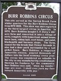 Image for Burr Robbins Circus Historical Marker