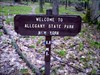 a nice little wooden sign post marking the boundary between PA Forestland and the New York Seneca Reservation