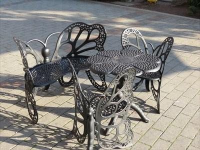 Butterfly Seating Around Table, Redmond, Washington