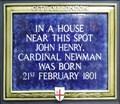 Image for Cardinal Newman - Threadneedle Walk, London, UK