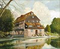 """Image for """"Houghton Mill, Cambridgeshire"""" by Wilfred Simons – Houghton Mill, Houghton, Cambs, UK"""